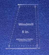 """Buy Windmill - Makes 8"""" Finished Square-- 1/8"""" Clear Acrylic - Quilting Templates-"""