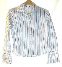 Buy EUC women's sz. XL, rave, blue/white, long sleeve, button down, shirt