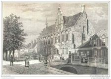 Buy HOLLAND - LEEUWARDEN - engraving from 1886