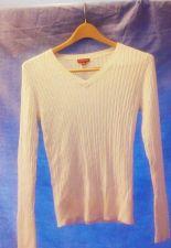 Buy EUC women's, Sz. S/P MERONA, ivory long sleeve, cable knit sweater