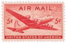 Buy 1946 5c DC-4 Skymaster Scott C32 Mint F/VF NH