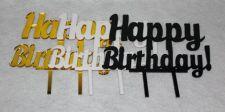 "Buy Happy Birthday Cake Toppers - 1/8"" Acrylic -"