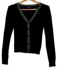 Buy EUC womens, Sz. S, Wet Seal, black/metallic silver, button down, sweater