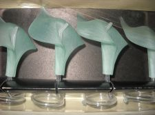 Buy Calla Lily Napkin Holders lot 4 textured Acrylic Lucite Vintage Napkin Rings