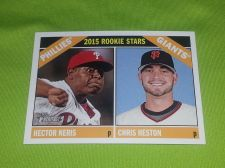 Buy MLB HECTOR NERIS-CHRIS HESTON 2015 TOPPS HERITAGE ROOKIE STARS #401 GEM MNT