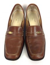 Buy Ann Klein Shoes Womens 8.5 Brown Leather Loafers