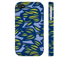 Buy Boesel Yellow Blue Iphone 4/4S Apple Phone Case Flowers Botanical