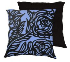 Buy Clumpner 18x18 Blue Black Pillow Flowers Floral Botanical Cover Cushion Case Throw Pi