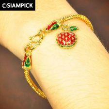Buy 22k 24k Bangle Bracelet Franco Chain Thai Baht Yellow Gold GP Jewelry Women B148