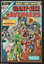 Buy Giant Sized AVENGERS Annual #4 Marvel Comics 1975 VG range 40 years old