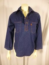 Buy Vintage Levis Womens Jean Denim Snap Button Western Shirt Levis Cursive L Label
