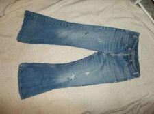 Buy Vintage Levi's Big Bell Bottom jeans 32x30 Pre-Owned Destroyed