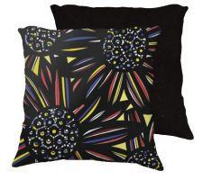 Buy Darnel 18x18 Yellow Red Blue Black Pillow Flowers Floral Botanical Cover Cushion Case