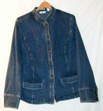 Buy EUC women's, sz. XL, Villager, blue, long sleeve, buttoned, jeans jacket