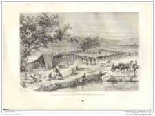 Buy AFRICA - NIGER - CAMPING NEAR BAKHOY RIVER - 1882 old engraving