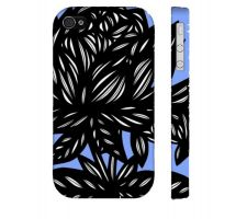 Buy Relihan Blue White Flowers Floral Botanical Iphone 4/4S Phone Case