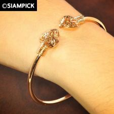 Buy Thai 22k 23k Baht Pink Rose Gold Plated GP Bracelet Bangle Dangle Jewelry B001