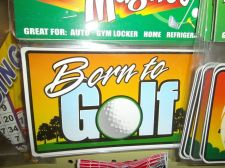 Buy Born to Golf Magnet mega strong 7 inch rectangle golf gift car 6 lot
