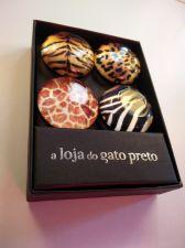 Buy Fridge magnets Wild animals Jungle in gift box Cheetah Tiger Giraffe Zebra skin