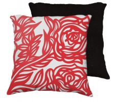 Buy 22x22 Ladesma Red White Pillow Flowers Floral Botanical Cover Cushion Case Throw Pill