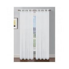 Buy Curtains, Solid Sheer, Extra Wide 54 x 84 in Curtain Panel, White