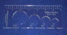 "Buy 4 Hole Mini-Circle Quilt Template w/Ruler 1/4"" Thick - Long Arm- For 1/4"" Foot"