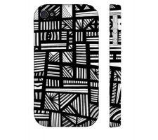 Buy Sheaks Black White Iphone 4/4S Phone Case