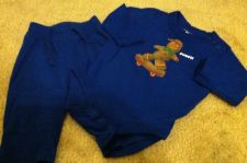 Buy Baby Gap Boys Outfit Long Sleeve Gingerbread Shirt And Pants Blue Size 3-6 Month