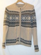 Buy EUC women's, Sz. M, Croft & Barrow, Nordic Style, zippered, long sleeve, sweater