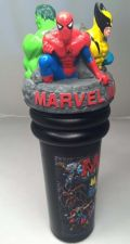 Buy Marvel Superhero Spiderman Hulk Wolverine 3D Drink Tumbler Water No Straw