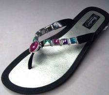 Buy Beaded Sandals Flip Flop Slides Women Footwear Shoes Pool Lake Black 8 9 10 11
