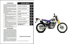 Buy 1996-2009 Suzuki DR200SE Repair Service Manual CD -- DR200 DR 200 SE