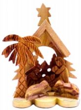 Buy Nativity from Bethlehem Miniature Collectible Carved from Olivewood