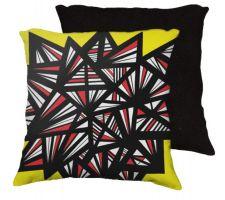 Buy Mckirgan 18x18 Yellow Red Black Black Back Cushion Case Throw Pillow Cover 631 Art