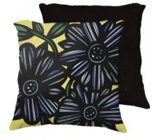 Buy 22x22 Schild Blue Green Black Pillow Flowers Floral Botanical Cover Cushion Case Thro