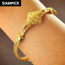 Buy 22k 24k Thai Baht Yellow Gold Plated Chain Pendant Bangle Bracelet Jewelry B092