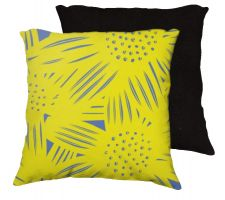 Buy Wikel 18x18 Yellow Blue Pillow Flowers Floral Botanical Cover Cushion Case Throw Pill