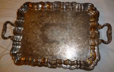Buy Sheridan Silver Co. Plated Heated Butlers Footed Tray Platter Large Heavy # 284E