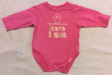 Buy The Childrens Place Girls Long Sleeve Pink Shirt Size 0-3m