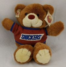 "Buy Snickers Teddy Bear- Plush Toy- 15"" Tall- Heartline New With All Tags VERY CLEAN"