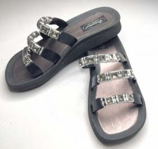 Buy New Grandco Beaded Sandals Flip Flop Slides Women Footwear Pools 25407-Black