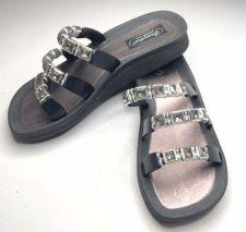 Buy New Grandco Beaded Sandals Flip Flop Slides Women Footwear Pools 25407-Black