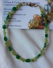 Buy peridot and green aventurine natural stones handmade anklet sizing available