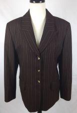 Buy Pendleton Jacket Womens 12 Brown Wool Long Sleeve