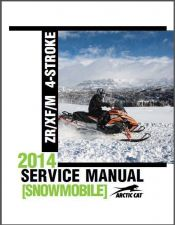 Buy 2014 Arctic Cat ZR XF M Series 4-Stroke Snowmobile Service Repair Manual CD