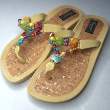 Buy Grandco Beaded Sandals Flip Flop Slides Women Footwear Shoes Pool Ivory 10