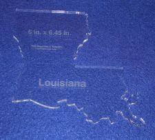 """Buy State of Louisiana 6"""" x 6.45"""" 1/4"""" Quilt Template- Acrylic - Long Arm/Hand Sew"""