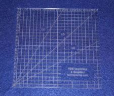 """Buy 6"""" Square Ruler. Acrylic 1/8"""" thick. Quilting/Sewing"""