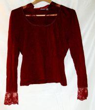 Buy EUC women's, sz. P/XL, Apt 9, maroon, long sleeve, pullover, sweater