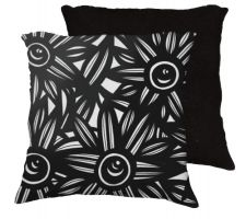 Buy 22x22 Counselman Black White Pillow Flowers Floral Botanical Cover Cushion Case Throw